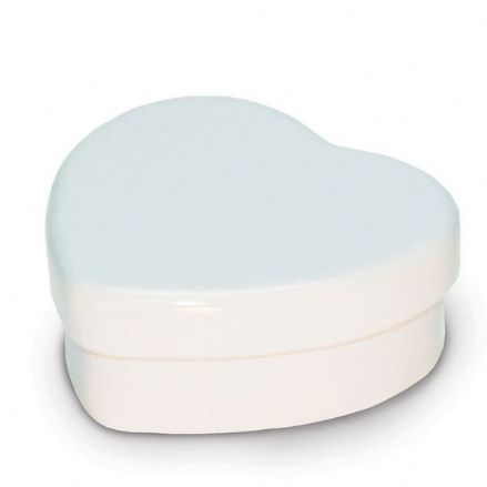 Candle Tins - White Heart